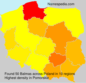 Surname Balmas in Poland
