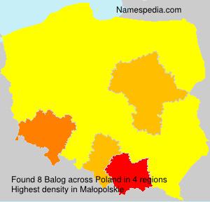 Surname Balog in Poland