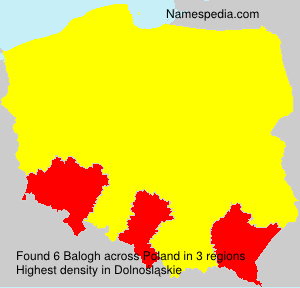 Surname Balogh in Poland