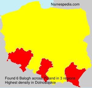Surname Balogh in Poland