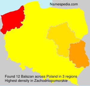 Familiennamen Balszan - Poland