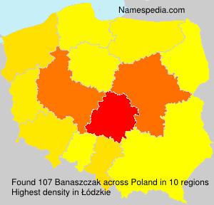 Familiennamen Banaszczak - Poland