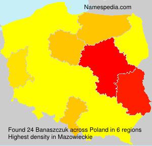 Surname Banaszczuk in Poland