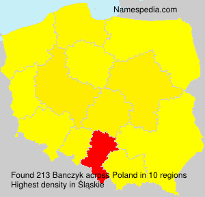 Surname Banczyk in Poland