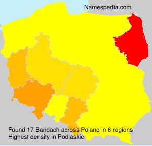 Surname Bandach in Poland