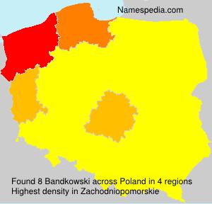 Surname Bandkowski in Poland