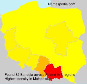 Familiennamen Bandola - Poland