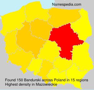 Familiennamen Bandurski - Poland