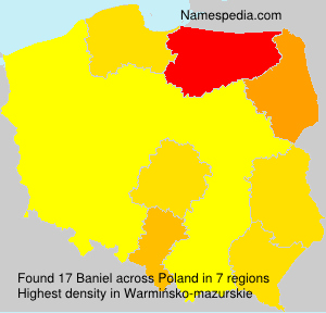 Surname Baniel in Poland