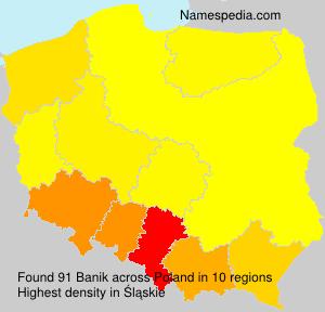 Familiennamen Banik - Poland