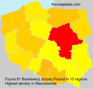 Surname Bankiewicz in Poland