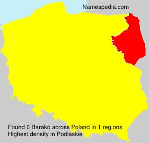 Surname Barako in Poland