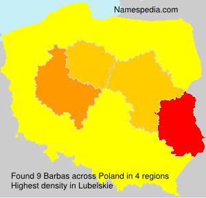 Surname Barbas in Poland