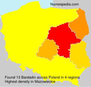 Surname Bardadin in Poland