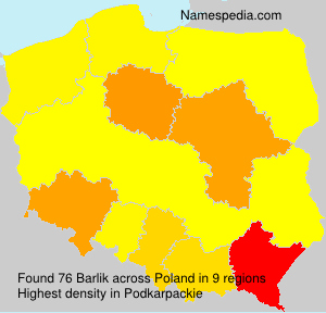 Surname Barlik in Poland