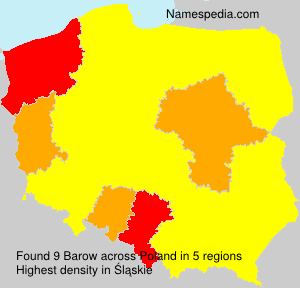 Surname Barow in Poland