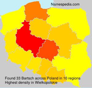 Familiennamen Bartsch - Poland
