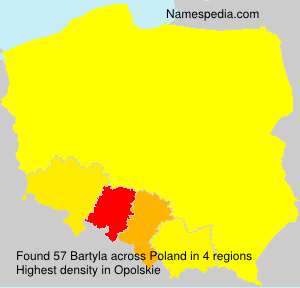 Surname Bartyla in Poland