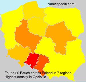 Surname Bauch in Poland