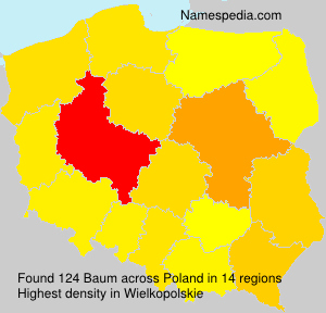 Surname Baum in Poland