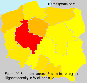 Surname Baumann in Poland