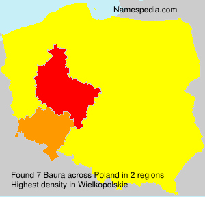 Surname Baura in Poland