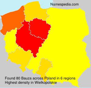 Surname Bauza in Poland