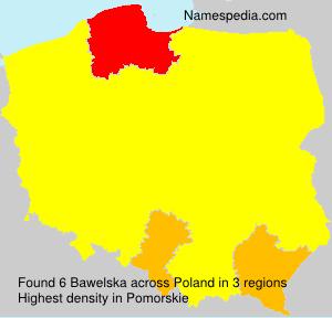 Surname Bawelska in Poland