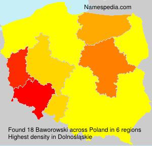 Surname Baworowski in Poland