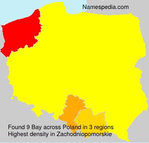 Surname Bay in Poland