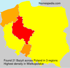 Surname Bazyli in Poland