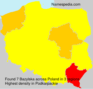Surname Bazylska in Poland