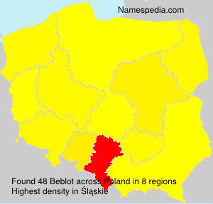 Surname Beblot in Poland