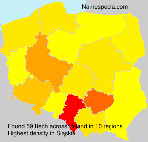 Surname Bech in Poland