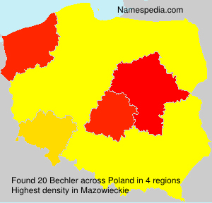 Surname Bechler in Poland