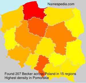 Familiennamen Becker - Poland