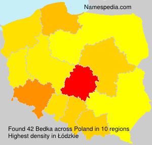 Surname Bedka in Poland