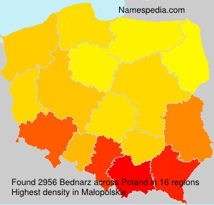 Surname Bednarz in Poland