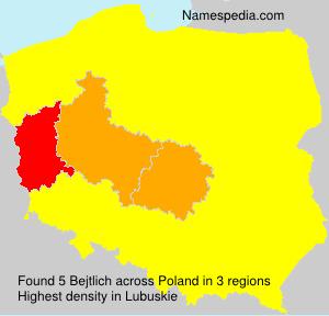 Surname Bejtlich in Poland