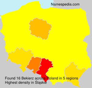 Surname Bekierz in Poland