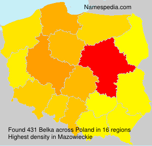 Surname Belka in Poland