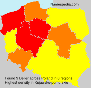 Surname Beller in Poland