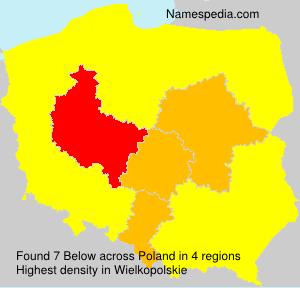 Surname Below in Poland