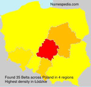 Surname Belta in Poland