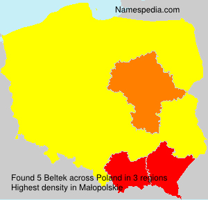 Surname Beltek in Poland