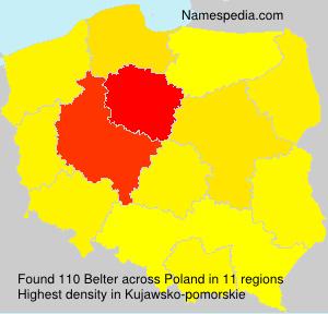 Familiennamen Belter - Poland