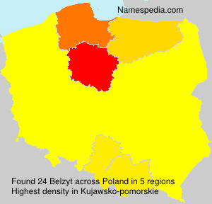 Surname Belzyt in Poland