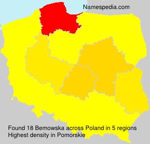 Surname Bemowska in Poland
