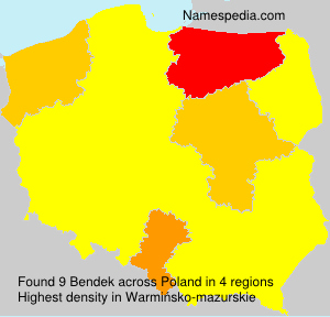 Surname Bendek in Poland