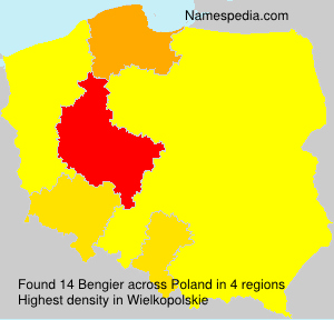 Surname Bengier in Poland
